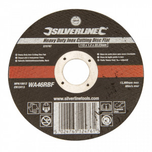 Disc metale, polizor unghiular, 115 x 1.2 x 22.23mm, Silverline