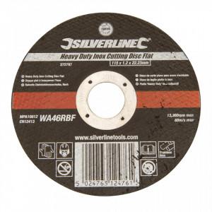 Disc metale, polizor unghiular, 115 x 1.2 x 22.23mm, Silverline