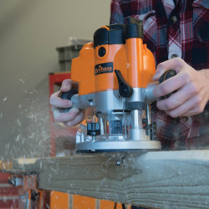 "Freza lemn profesionala, 1010W, maner multifunctional, 1/2"" 6 & 12 mm, Triton"