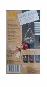 Ornament Craciun, acryl led, 6 culori, 10 led-uri, 14 x 19.50 cm, brad Craciun, Dekor