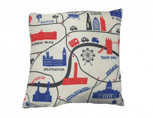 Perna decorativa premium, mini 43 x 43 cm, London, George Home