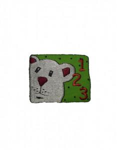 Petic textil, patch brodat , 52 x 40mm, urs, Wenco