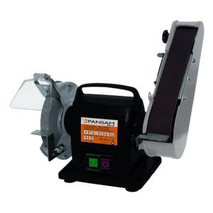 Polizor de banc, 200W, banda 686 mm, disc 150 mm, Pansam
