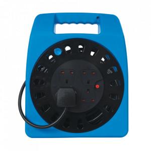 Rola tambur cablu prelungitor, 4 prize, 13A, 15m, protectie termica, sistem Anglia, POWER MASTER