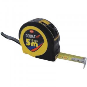 Ruleta, 16mm, 5m, stop, invelis cauciuc, Dedra