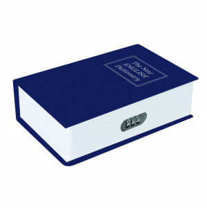 Seif tip carte cu cifru in combinatie de 3 cifre  , Silverline 3-Digit Combination Book Safe Box