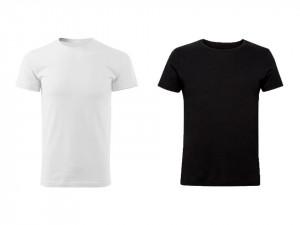 Set 2 tricouri barbati, L, alb, negru, 95% bumbac, 5% elastan, muscle fit, EDC by Esprit
