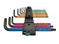 Set 9 chei profesionale tip Imbus 2 in 1, HEX - Plus, 1.5, 2, 2.5, 3, 4, 5, 6, 8, 10, Wera