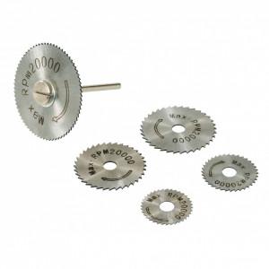 Set de discuri pentru biax HSS 6 piese ,22, 25, 32, 35 și 44 mm , Silverline HSS Saw Disc Set 6pce