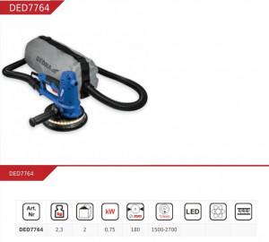 Slefuitor perete , gips cartor , glet , Dedra 750W , 180mm , lumina LED , functie aspirator si sac colectare