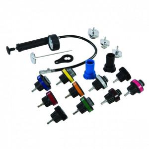 Trusa 18 piese testat instalatie racire antigel auto, radiator, conducte, Silverline Radiator Pressure Test Kit 18pce