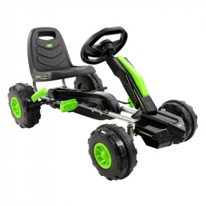 Cart cu pedale si volan, 3+, Lighting Wired Go Kart