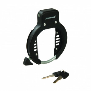 Antifurt pentru biciclete , 62 mm , otel , Silverline Bicycle Frame Lock