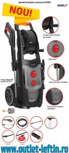 Aparat de spalat cu presiune DEDRA 2300W , 150bar , 450L/H