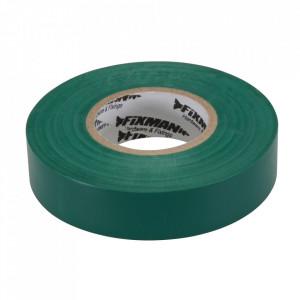 Banda izolatoare, latime 19mm, lungime 33m, verde, Fixman