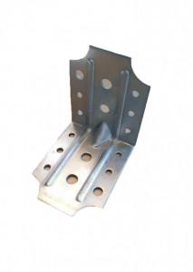 Coltar metalic galvanizat, pentru lemn cu ranforsare dubla, 100 x 100 x 80mm , F.F. Group