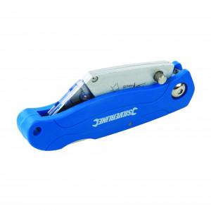Cutter semiprofesional 100mm, rabatabil, lama mica, Silverline Lock-Back Utility Knife