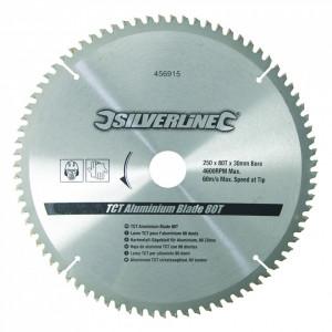 Disc 250mm pentru taiat aluminiu , metale neferoase, aliaje ușoare Silverline 80T