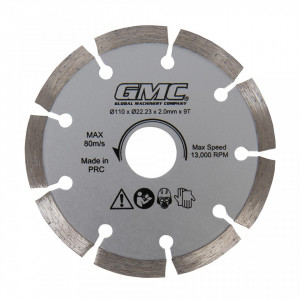 Disc diamantat 110 x 22.23 x 2mm x 9T, GMC