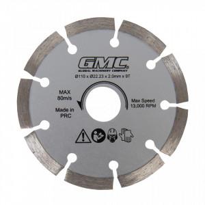 Disc diamantat 110 x 22.23 x 2mm x 9T, GMC