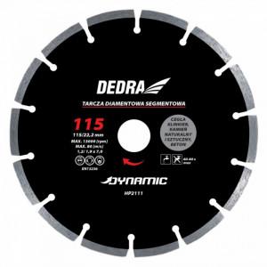 Disc diamantat , 115 x 22.2mm , taie caramida , piatra , beton , Dedra