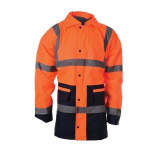 Geaca profesionala reflectorizanta santier, marimea L, 100-108cm, portocaliu, Silverline