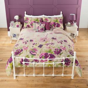 Lenjerie de pat ,1 plic pilota, 1 fata perna, 1 persoana, 200 x 135cm, 48 x 74cm, single, floral, George Home