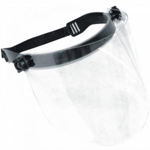 Masca protectie fata cu viziera transparenta , Flip-up , prindere cu elastic , Dedra 20 cm