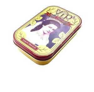 Mini cutie metal vintage pentru tigari, bomboane, medicamente, V.I.P