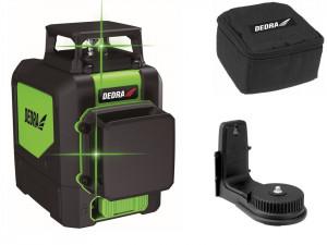 Nivela multi laser 2D ,cruce verde cu linii, proiectare 30 m, dioda Osram, Dedra