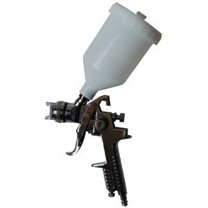 Pistol de vopsit cu aer comprimat, rezervor plastic pozitionat sus, 600ml Pansam