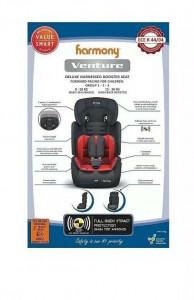 Scaun auto, perna reversibila rosu-negru, 9-36Kg, tetiera ajustabila, protectie impact, Harmony Venture