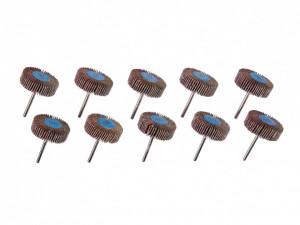 Set 10 piese role smirghel evantai, 80 grit, 30mm, 30000 rpm, Parkside