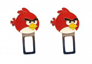 Set 2 anulatoare centura, sunet centura, Angry Birds, rosu, Disney