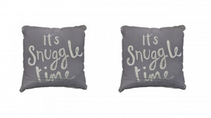 Set 2 perne decorative premium, 43 x 43 cm, Snuggle Time, George Home
