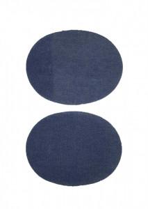 Set 2 petice textile, patch blug , 130 x 100mm, Wenco