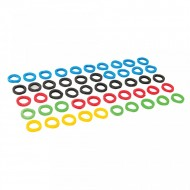 Set 50 protectii colorate chei, Silverline
