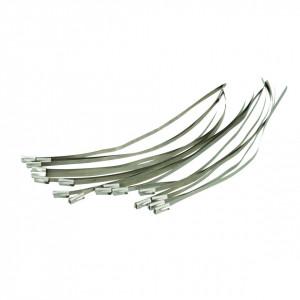 Set coliere metalice 50 de bucati , 200mm , Silverline Roller Ball Ties 50pce