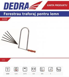Set lame de rezerva traforaj manual , 110mm , 10 buc Dedra