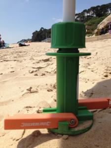 Suport umbrela nisip, pamant, 450mm, sistem manere, Silverline