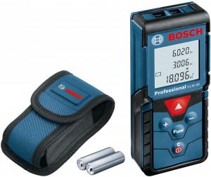 Telemetru cu laser Bosch Professional GLM 40, 40 m, ± 1.5 mm precizie, 635 nm dioda laser, IP 54