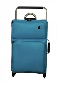 Troler textil mare, cadru fibra sticla, extra usor, 2.4kg, 83 x 50.5 x 30 cm, bleu, XXL, IT LUGAGGE