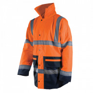 Geaca profesionala reflectorizanta santier, marimea XL, 108-116cm, portocaliu, Silverline