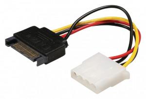 Cablu alimentare molex - sata, 0.15m, Bandridge