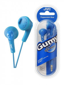 Casti audio In-ear , 1m, albastru peppermint, bass boost, JVC Gumy