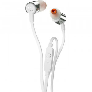 Casti audio In-ear JBL T290SIL, Pure Bass Sound, Hands-free Call, Gri