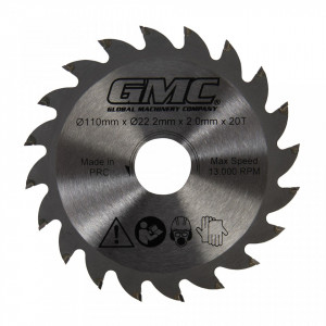 Disc circular electric, 110 x 22.2mm x 20T, GMC