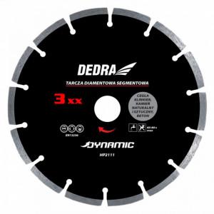 Disc diamantat , 350 x 25.4mm , taie caramida , piatra , beton , Dedra