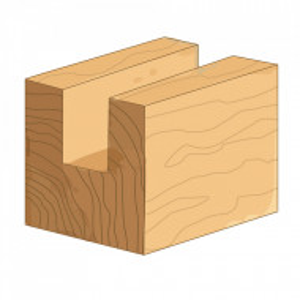 Freza lemn, 8mm,  12x20mm, Silverline