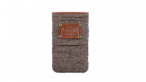 Husa universala telefon, textil, maro, 125 x 73mm, Bugatti